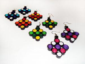 Boucles d'oreilles DIY Quilling Collection Les carrés