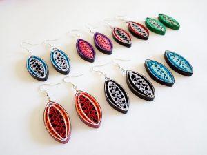 Boucles d'oreilles DIY Quilling Collection Les emmelés
