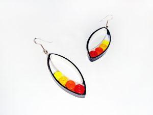 Boucles d'oreilles DIY Quilling Ovales rouges