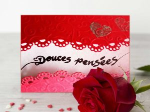 Carte St-Valentin - Douces pensees